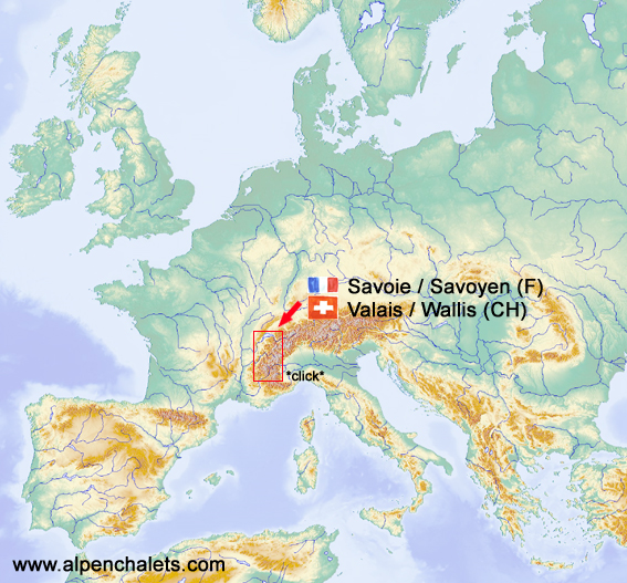 Map Of The Alps In France.Best Alpine Ski Areas On Map Of The Alps Geographical Chalet Search